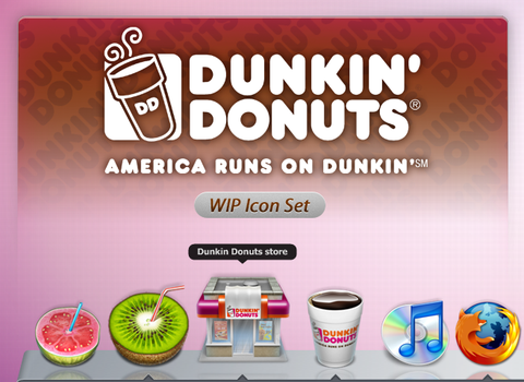 WIP Dunkin Donuts Icon Set by ncrow