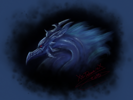 Dragon bleu by Xx-tatooz-xX