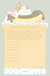 Banana Sprinkle Split Journal Skin by Sugary-Stardust
