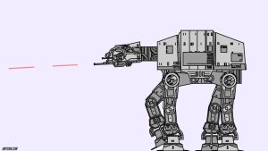 AT-AT Walker Wallpaper and animation [Speedpaint] by abysan