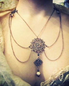Copper Victorian Necklace 2 by Verope