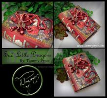 Red Dragon on Medium Red Book by Tpryce
