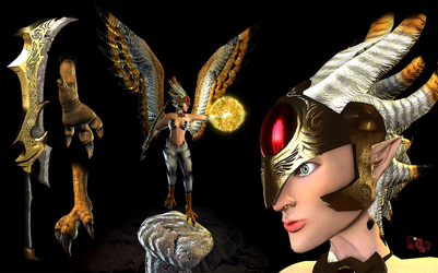 Angelic Harpy by Samholy