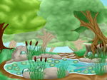 Pondpony Month Week 1 Prompt: Lilytad's pond by Beadedwolf22