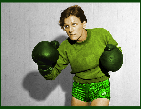 Babe Didrikson in Green by Seleneboxer