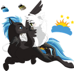COMMISSION- Nimbus and Jacquelyn (2018) by elusiveCONQUEROR