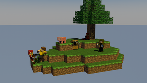 Me and my gang playing Skyblock by Mikes8899