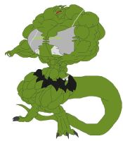 go daddy muscle dragoness by inflamusgrow