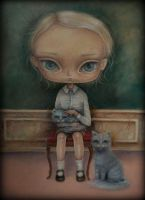 The Boy with a Cats by paulee1
