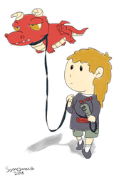 Child With Dragon On Leash by someswedish