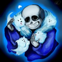 Sans and The Annoying Dogs by MaMze95