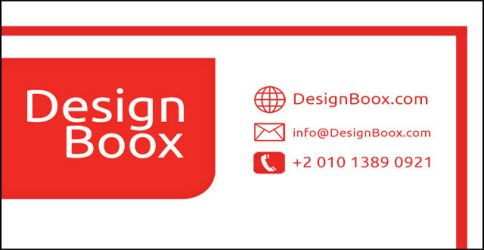 DesignBoox Red and White Business Card by DesignBoox