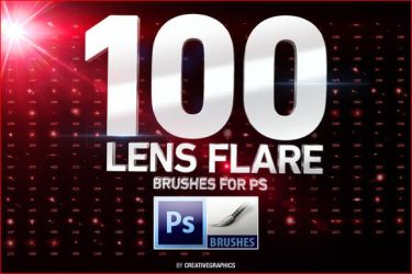 100 Lens Flare Brushes for Photoshop by fghgjwer