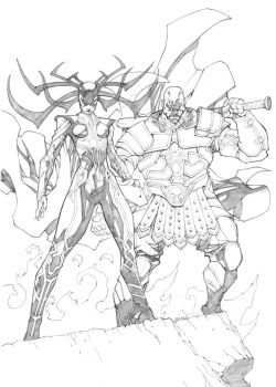 Hela and Executioner by mikebowden