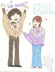 Request - Micky and Heather In Ponchos by girlwitharubbersoul