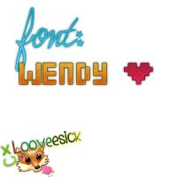 font wendy by CxLooveesick