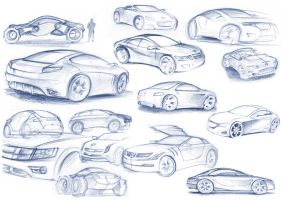 cars from sketchbook by gizmoaseth