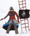 Assassin Creed # 4 : Edward Kenway by LOrdalie