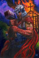 THORKIL THE VIKING Painting by Sean-Patty