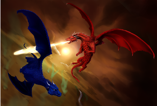 Battle of the Burning Plains by Inbetwixt93