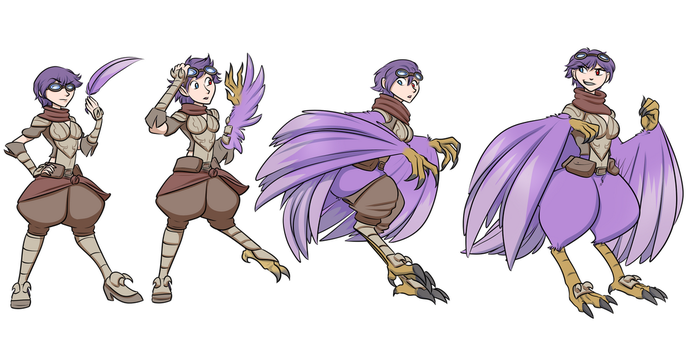 Lacey to harpy sequence by SrgntDrew