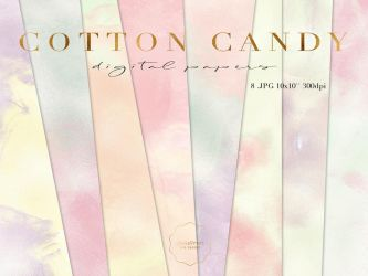 Cotton Candy Papers Pack by iCatchUrDream