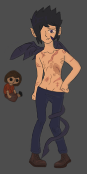Merri--Shirtless by owltears