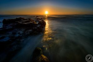 Sunrise at Playa de Esquinzo by BlackSunRising