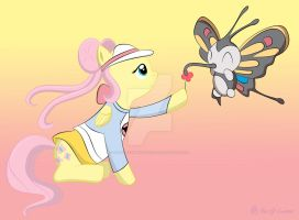 Fluttershy and Beautifly