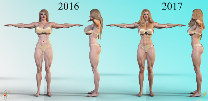 Lady Quantum Comparison 2016 to 2017 by Lady-Quantum