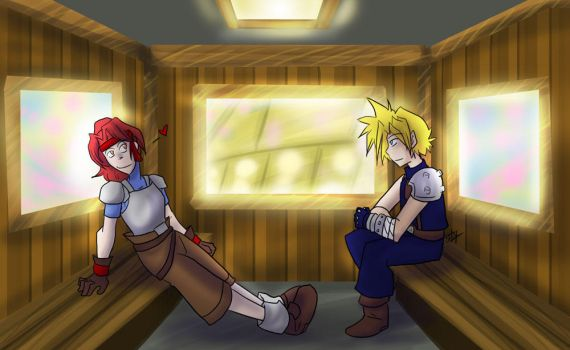 FF7 - Jessie and Cloud Date by liliy