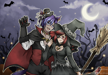 SpeedArt: FFXIV: Happy Halloween! (with video!) by MissKilvas