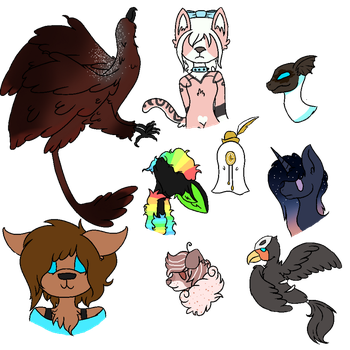 some of my characters by Amber2206