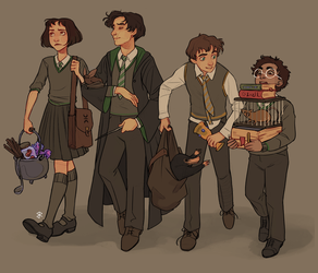 The Slytherin Squad by Ravietta