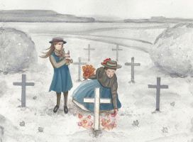 A soldier's grave by JadeMoonRabbit