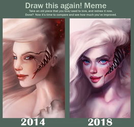 Draw this Again! Meme by SandraWinther