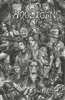 Los Hooligans-Rough Sketched comic cover fan art by StevJVaz72