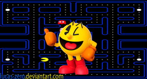 Super Smash Bros 4 Pac-Man Wallpaper by Lucas-Zero