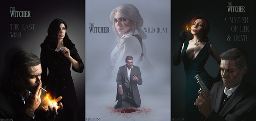 The Witcher - Noir Series by MilliganVick