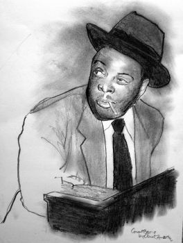 Portrait of Count Basie by filmshirley