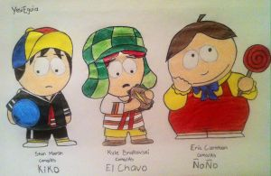 South Park Cosplaying El Chavo by YesiEguia