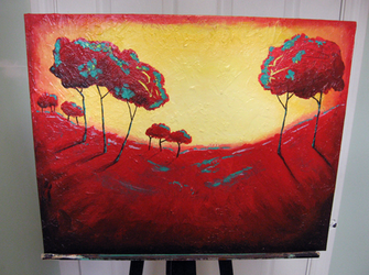 Red Trees by Neurocidic