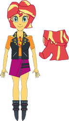 Sunset Shimmer (New Outfit) by WILLIAM-1998
