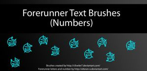 Brushes - Halo Forerunner Text 'Numbers' by cfowler7