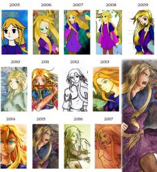 Amnay'Sia evolution since her creation by Amnaysia-EC