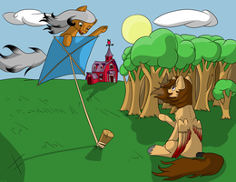 Fly on a kite by FullmoonDagger
