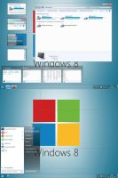 Windows 8 Aero Metro Style for Windows 7 by Rammist
