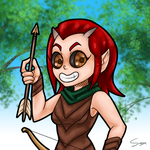 Daily Drawing #4 -  Bosmer Archer by Mr-Sage