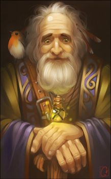 Old wizard by GaudiBuendia