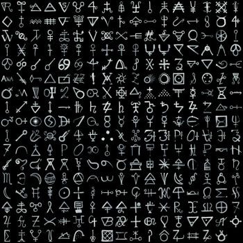 Alchemical Symbols - Collected Inverted by wetdryvac